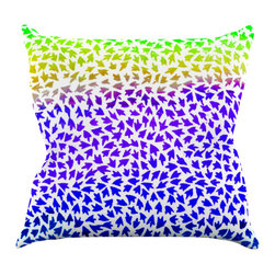 """Kess InHouse - Sreetama Ray """"Aqua Arrows"""" Blue Purple Throw Pillow (18"""" x 18"""") - Rest among the art you love. Transform your hang out room into a hip gallery, that's also comfortable. With this pillow you can create an environment that reflects your unique style. It's amazing what a throw pillow can do to complete a room. (Kess InHouse is not responsible for pillow fighting that may occur as the result of creative stimulation)."""
