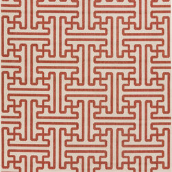 """Surya - Surya Alfresco ALF-9600 (Orange, Beige) 8'9"""" Square Rug - The beautiful rugs in the Alfresco Collection can be used on the porch, deck, and patio or hose them down and use them in your kitchen, sunroom, or bathroom! This versatile collection offers rugs that are stain, humidity, and UV ray resistant. Complement your home dEcor with the beauty of Alfresco rugs that flow smoothly with your lifestyle. -100% Polypropylene -Outdoor -Made in Egypt"""