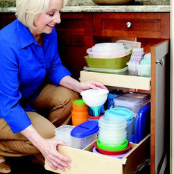 ShelfGenie Pull Out Shelves with Dividers - Add dividers to pull out shelves to create even more organization with compartmentalization.
