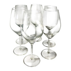 Vinotemp - Illuminati Wine Glass - Set of 6 - Set of 6. Resistant to breakage and everyday wear. Dishwasher safe. Lead-free glass. Able to hold 15 fl oz.. Designed to enhance the wine-tasting experience of white wines. 3.5 in. Dia. x 8.69 in. H (0.5 lbs.). Warranty