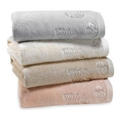 "Lenox - Lenox Seaside Bath Towels - Bring the peacefulness of coastal living into your bathroom with this lovely Seaside Bath Towel Collection. Towel features a lovely woven shell design that adds the perfect seaside touch. Bath Towel measures 24"" x 48""."