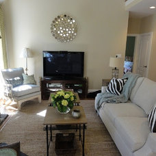 Modern Family Room by Erika Bonnell Interiors