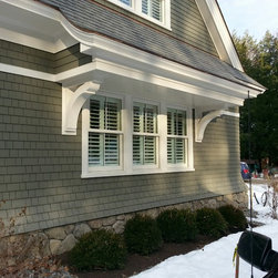 Shutters - Remember window treatments create impact on the outside as well as the inside