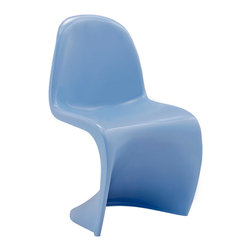 Modway - Modway EEI-123K Slither Kids Chair in Blue - Einstein may have shown that space was curved, but this chair gave tangible expression to the idea. Now over forty years since the Slither chair was first molded, budding scientists can rediscover the cosmos with this clean and durable playroom chair!