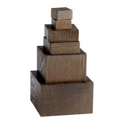 Cyan Design - Cyan Design Art Pedestals (Set of 6) in Brown - Art Pedestals (Set of 6) in Brown