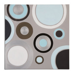 Uttermost - Hand Painted Canvas Optical 40In.W X 40In.H Abstract Painting - Hand Painted Canvas Optical 40In.W X 40In.H Abstract Painting