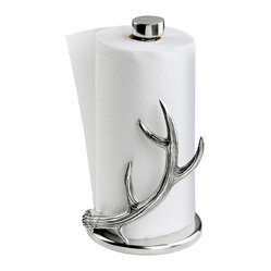 Arthur Court - Antler Paper Towel Holder - Make everyday life a special occasion with this gleaming aluminum antler that keeps paper towels in place while bringing rustic charm to your kitchen.