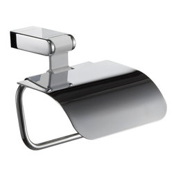 Manillons - Iris Toilet Paper Holder with Lid. White & Polished Chrome - Iris Collection Toilet Paper holder with lid made in brass polished chrome and aluminium in white color. Update your bathroom decor with this beautiful wall mount Bathroom Paper Roll Holder. Pure Brass with high quality finish and excellent workmanship makes this item durable and elegant. Perfectly coordinated for a stylish, sophisticated look. With this kind of accessories you bring a special flair to your bathroom