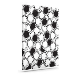 """Kess InHouse - Nandita Singh """"Beaded Bangles"""" Black White Wrapped Art Canvas (12"""" x 10"""") - Bring your outdoor patio to life with this artistic outdoor canvas wrap featuring gorgeous artwork by KESS InHouse. These canvases are not only easy to hang and remove but also are the perfect addition to your patio collection. These canvases are stretched around a wooden frame and are built to withstand the elements and still look artistically fabulous. Decorating your patio and walls with these prints will add the splash of art and color that is needed to bring your patio collection together! With so many size options and artwork to choose from, there is no way to go wrong with these KESS Canvas Wraps!"""
