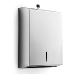 WS Bath Collections - Otel Paper Towel Wall Dispenser in Stainless - Made by Lineabeta of Italy. Product Material: Stainless Steel. Finish/Color: Silver. Dimensions: 14.4 in. W x 11 in. L x 3.9 in. D