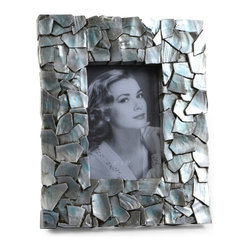 "Concepts Life - Concepts Life Photo Frame  Sacred Mantle  4x6"" - Add luxurious shimmer and texture to your most beloved photographs with our Sacred Mantle Photo Frame. These dazzling silver frames feature a shell like finish and look stunning when they catch a ray of light.  Modern home accent Contemporary silver picture frame Beautiful and elegant home accent Rectangular photo frame Made of polyresin Textured finish Easel back for horizontal or vertical display Various sizes available Holds 4 x 6 in. size photo Dimensions: 8.5""w x 10""h x 1""d Weight: 2 lbs"