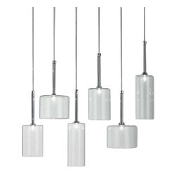 """Axo - Axo Spillray 6 Suspension Light - The Spillray 6 suspension light from has been designed by Manuel Vivian for Axo. A combination of six diffusers hang from the ceiling canopy to creating an artistic piece. Available in four different options. This fixture requries 6 x 24W G4 Halogen bulb.         Product Details: The Spillray 6 suspension light from has been designed by Manuel Vivian for Axo. A combination of six diffusers hang from the ceiling canopy to creating an artistic piece. Available in four different options. This fixture requries 6 x 24W G4 Halogen bulb. Details:                         Manufacturer:            Axo                            Designer:            Manuel Vivian                            Made in:            Italy                            Dimensions:            Height: 47 1/4"""" (120 cm) X Width:25 3/8"""" (64 cm) X Depth: 7 1/2"""" (19 cm)                            Light bulb:            6 x 20W G4 Halogen bulbs                            Material:            Metal"""