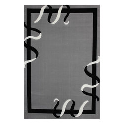 Rug - ~5 ft. x 8 ft. Solid Large Grey Living Room Area Rug, Machine Made - Living Room Hand-tufted Shaggy Area Rug