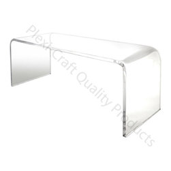 Waterfall Cocktail Table - Waterfall Cocktail Table has a top surface that flows down along both sides. Thick Clear Acrylic.