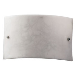 """Quorum International - Quorum International Q5700 Alabaster Stone / Glass Wall Washer Sconce - Wall Sconce3.75"""" (Extension)Bulbs: (2) 60W Medium Base"""