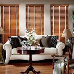 Parkland ™ Classics ™ Wood blinds with decorative tape- Hunter Douglas - The largest selection of hardwood blinds Rich colors … bright, modern stains … Parkland™ Classics™ wood blinds offer our widest selection of paint colors, stains and slat sizes, so you can find just the right design for your home.