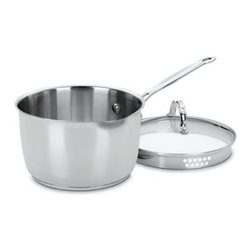 Cuisinart - Cuisinart Chef's Classic Stainless Steel 3-Quart Cook and Pour Saucepan with Lid - This attractive saucepan has a professional classic look and superior cooking performance thanks to the stainless steel mirror finish exterior.