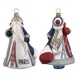 Frontgate - Glitterazzi International France Santa Ornament - Each ornament takes up to 7 days to produce. Constructed of 100% European-made glass. Arrives in a handsome black lacquered box for gifting and safekeeping. Hanger is included for easy display. Our collectible Glitterazzi International Ornament from Joy to the World was created with the utmost attention to quality and detail. The finest artisans in Poland individually mouth blow and hand paint each ornament, achieving new levels of innovation and artistic integrity in their designs. Using only traditional old world production methods and materials sourced from European countries, they ensure that each ornament is an impressive work of art that will be treasured for generations. . . . . Made in Poland.