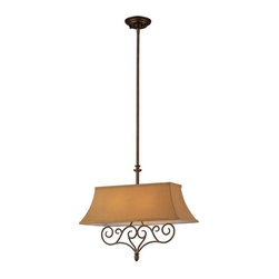 Elk Lighting - Elk Lighting 31255/2 Linear Traditional Island Light in Mocha - Elk Lighting 31255/2 Linear Traditional Island Light in Mocha