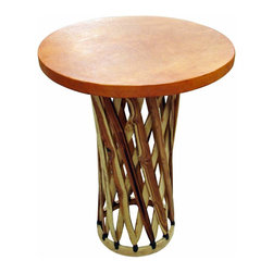 "Mexican Equipale Bar Table - Top quality Equipal bar table. Great for indoors too! Dimensions: 30'' l x 41'' h x 30"" w"