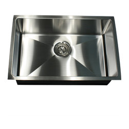 Nantucket Sinks - Nantucket Sink sr3018 - Pro Series Rectangle Single Bowl Undermount small radius - This undermount Pro Series rectangle sink provides Small Radius  corners for additional space and a fresh modern industrial look. The bottom of the sink has channel grooves to divert water for proper drainage.