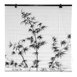 Oriental Furniture - Bamboo Tree Shoji Blinds - (36 in. x 72 in.) - Bamboo has long been admired in Japan as a symbol of longevity. Groves of this stalwart tree were traditionally grown around Shinto temples to provide a ward against evil. This shoji paper blind will meet many of your decorating needs.