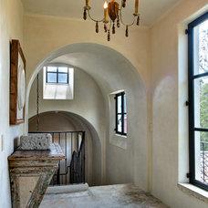 Mediterranean Hall by Allan Edwards Builder Inc