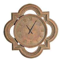 "Factory Direct Wall Decor - Windsor Wall Clock - This Windsor Clock adds a classic architectural design to any wall. This is a 26""W x 26""H x 3"" in Depth. This item weighs approximately 10 lbs, and requires one AA battery."