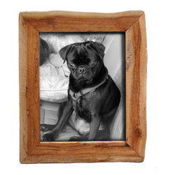 """Bambeco Reclaimed Natural Wood Frame 5""""x7"""" - These unique picture frames show off the raw beauty of nature in its purest form. Made from reclaimed California wood, these frames maintain a natural shape and will show off your favorite photos with organic style. They can stand alone or hang together on a wall for an artistic display. Because these frames are hand crafted from a natural source, no two are alike. Each will retain the natural grain and may contain a combination of wood species and color variations. Also available in: Reclaimed Redwood. Also available in: 3.5""""x3.5"""", 4""""x6"""", 8""""x10""""."""