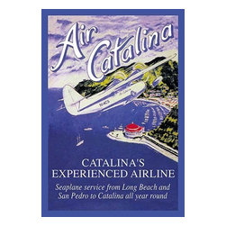 """Buyenlarge.com, Inc. - Air Catalina- Fine Art Giclee Print 24"""" x 36"""" - Catalina's experienced airline with """"seaplane service from Long Beach and San Pedro to Catalina all year round."""""""
