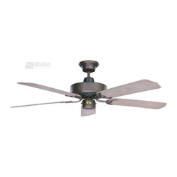 """Concord Fans - Concord Fans Nautika 52"""" Traditional Indoor / Outdoor Ceiling Fan X-BRO5AN25 - Cool down your outdoor space with this Concord Fans outdoor ceiling fan, which can also double as an indoor fan. From the Nautika Collection, this clean design will easily blend into a number of outdoor settings whether it's a three seasons room or an open gazebo."""