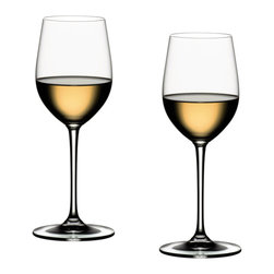Riedel - Riedel Vinum XL Viognier/Chardonnay Glasses - Set of 2 - The exquisite form of this glass features the velvety, supple texture of this variety. The classic Riedel shape expedites development of young wines while stimulating mature wines to deliver the anise flavor so typical of Viognier.