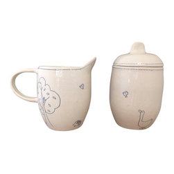 Tania Julian Ceramics - Farmhouse Sugar & Creamer - White Stoneware sugar and creamer set