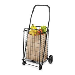 Whitmor - Rolling Utility Cart Black - Whitmor Rolling Utility Cart Black