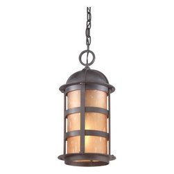 """Troy Lighting - Troy Lighting F9255 Aspen 1 Light Outdoor Lantern Pendant - *Metalwork: Hand-Forged IronGlassware: Seeded Amber Etched1 - 100W Medium Base (Not Included)8 1/2""""W 17 1/2""""HChain Hung Fixtures come with 4 Feet of Chain and 10 Feet of Wire"""