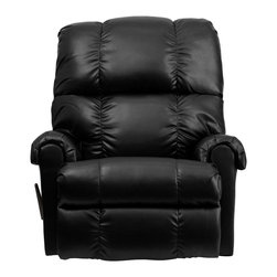 Flash Furniture - Flash Furniture Recliners Leather Recliners X-GG-173-0078-MW - This is a great little Rocker Recliner, period. It has been built to just the right dimensions for the average sized person, but it gives all the comfort you would expect from an over-stuffed recliner. The Bonded Leather cover is very stylish, soft to the touch, and easy to clean. It is simply an outstanding value. [WM-8700-371-GG]