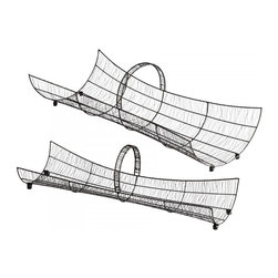 "Joshua Marshal - Decorative Raw Steel 32"" Wire Basket - Decorative Raw Steel 32"" Wire Basket"