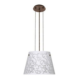 Besa Lighting - Besa Lighting   Amelia 12 Cable Pendant - Cable-hung pendant with handcrafted glass. Provides direct and diffused illumination. Ameila is available in three handcrafted finishes: