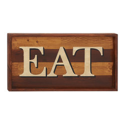 Simple Wood Eat Sign Wall Decorative - Description: