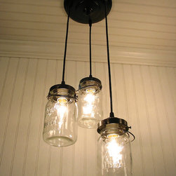 Vintage Canning Jar Chandelier by LampGoods - A perfect way to add a little vintage lighting charm. I'd probably opt for Edison bulbs to up the vintage ante just a bit.