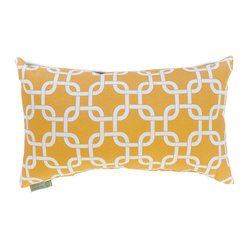 Outdoor Yellow Links Small Pillow