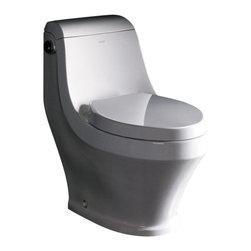 Fresca - Fresca FTL2133 Volna One-piece Contemporary Toilet - Fresca FTL2133 Volna One-piece Contemporary Toilet