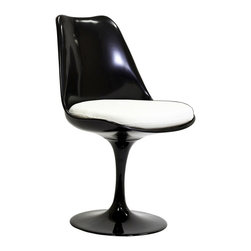 Lippa Dining Side Chair - The Lippa Chair adds the perfect modern classic touch to any dinning space. Sturdy, easy to clean and lovely to behold, these chairs elevate a meal to whole new levels of enjoyment. Available in an array of colors, the Lippa Chair makes it easy to express your individual style.