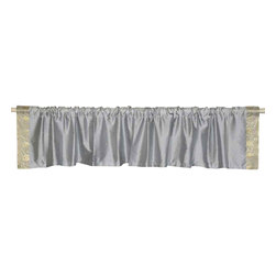 Indian Selections - Pair of Gray Rod Pocket Top It Off Handmade Sari Valance, 60 X 20 In. - Size of each Valance: 60 Inches wide X 20 Inches drop. Sizing Note: The valance has a seam in the middle to allow for the wider length