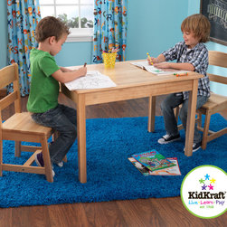 Kidkraft - Kids Rectangle Table and 2 Chair Set in natural Color - I think this table and chair set is one of the best sitting equipment for your kids. With this you can't go wrong in your house. Your kids will really love to sit on this table and chair set.