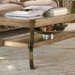 Hooker Furniture - Sanctuary Cocktail Table w Mirrored Top - Rectangular shape. One shelf. Made from hardwood solids. Visage finish. 52 in. W x 30 in. D x 20.5 in. H. Assembly InstructionsPursue serenity at home. Through the Sanctuary collection, you can create a sanctuary in your own home, a tranquil space that exudes a peaceful calm and grace, almost like a weekend retreat. When you walk into your home at the end of that long day, you will be delighted and your spirit will be renewed.