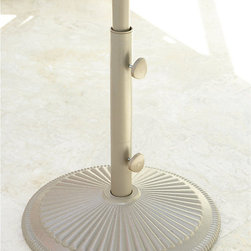 """Ballard Designs - Patio Umbrella Pole Extension - This 45"""" umbrella extension pole lengthens our Market Umbrellas to accommodate bar and counter height tables. Crafted of powder-coated aluminum to resist moisture and rust."""