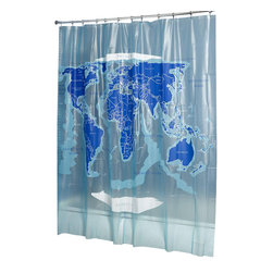 Croydex - World Map Vinyl Shower Curtain - AE580815YW - Manufacturer SKU: AE580815YW. Fully Waterproof material. Easy to Clean. Ready to hang with 12 tear resistant heavy duty eyelets. 70.87 in. W x 70.87 in. HOur extensive range of 100 % waterproof shower curtains offers a numerous choice of color, material, size and style. Select with the knowledge that quality will always be of the highest standard. complimenting your bathroom which ever style you choose.