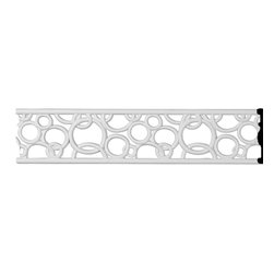 "Ekena Millwork - 4""H x 3/8""P x 96""L Tomango Pierced Moulding - 4""H x 3/8""P x 96""L Tomango Pierced Moulding. Our beautiful pierced moulding and corners add a decorative, historic, feel to walls, ceilings and furniture pieces- They are made from a high density urethane which gives each piece the unique details that mimic that of traditional plaster and wood designs, but at a fraction of the weight- This means a simple and easy installation for you-Features- Fully pierced for beautiful depth-- Perfect for walls or ceilings-- Factory primed and ready for paint-- Can be painted or faux finished-- Lightweight for easy installation-- Dense urethane for durability-- Material - Urethane"