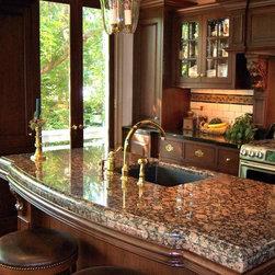 Custom Granite Kitchen Island -